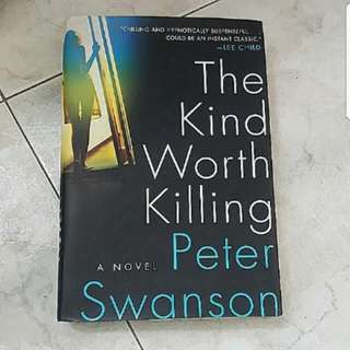 THE KIND WORTH KILLING HARDCOVER THRILLER