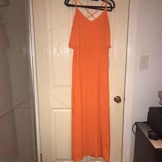 Forecast Orange Maxi Dress