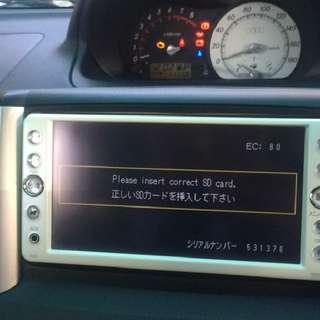 NSDN-w60 Toyota Radio SOFTWARE Fix,  Please Insert SD card