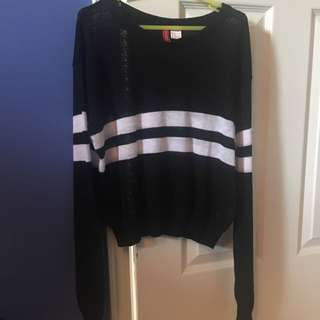 Black Striped Sweater
