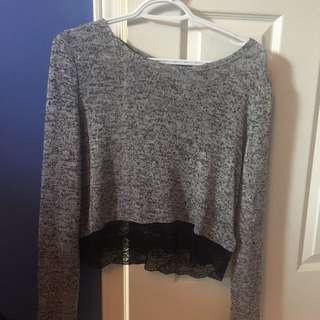 Grey Peppered Sweater