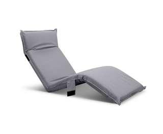 Adjustable Beach Sun Pool Lounger Grey