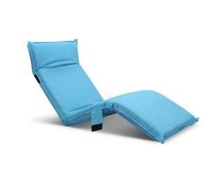 Adjustable Beach Sun Pool Lounger Blue