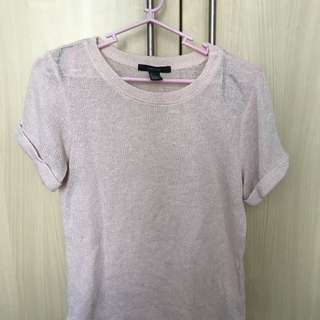 F21 Pink Knitted Top