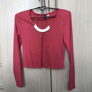 H&M Pink Cardigan