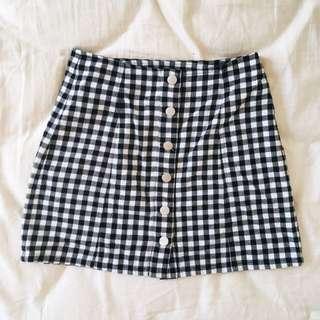 Gingham Button Down Skirt | 8