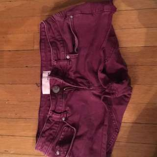 Garage Purple Flirty Shorts