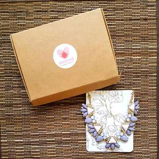 Kraft Box With MamaTuckshop Handmade With Love Sticker (Necklace And Gift Card Sold Separately)