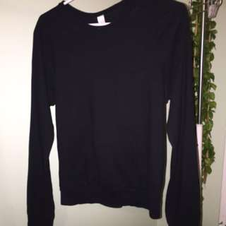American Apparel XL (more Like m) Long Sleeve W Pouch
