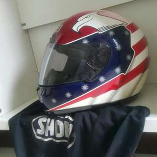Rare vintage SHOEI Top GP Racer Eagle Stars And Stripes ***John Kocinski***