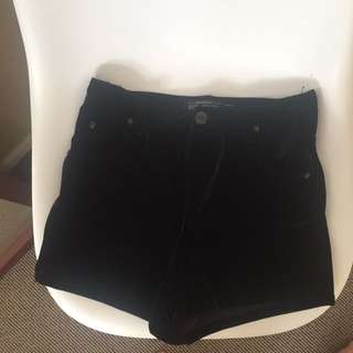 EVIL TWIN HIGH WAIST VELVET SHORTS