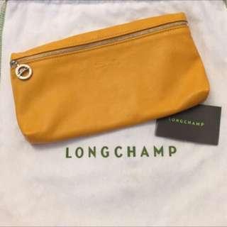 Longchamp羊皮化妝包/手拿包