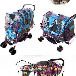 (Ready Stock)💯🆕Brand New Rain Cover For Double/Twins Baby Stroller / Baby Pram