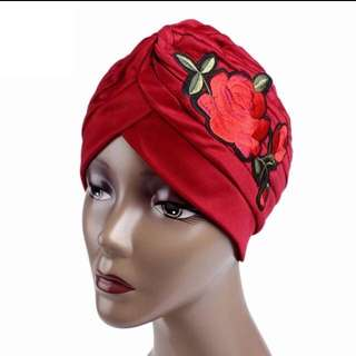 Rose embroidered Turban