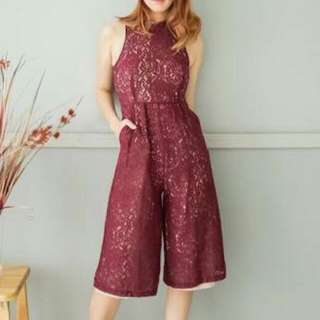 Yuan Clothing Brocade Chinese Collar Jumpsuit