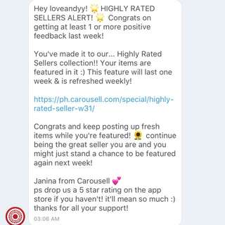 Thank You, Carousell 💖