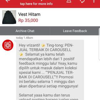 Yeayy.. Thank You Carousell 😊😍