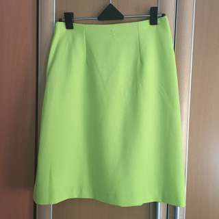 Miss Selfridge Skirt (Lime Yellow)