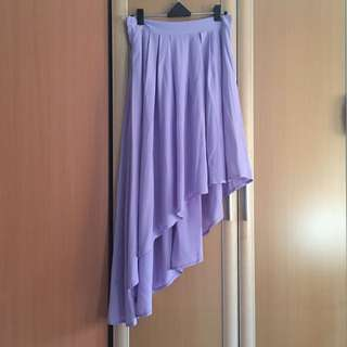 The Tinsel Rack (TTR) Fishtail Skirt In Lilac (size m)