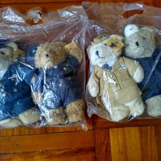 """1998年地鐵 """"機場快線精英小熊""""記念版 Teddy bear 公仔 全套(未開封)"""