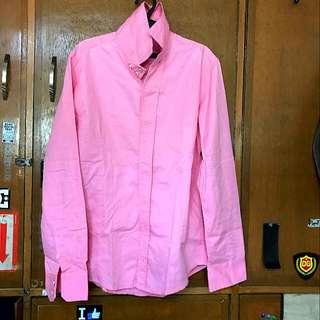 Binnisi Button Down Polo Longsleeve Pink