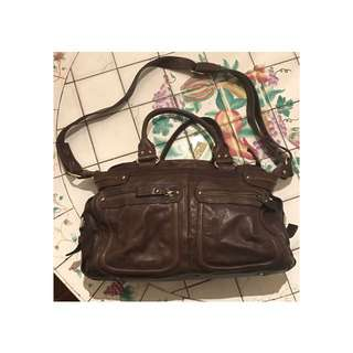 Lakeland Brown Leather Handbag