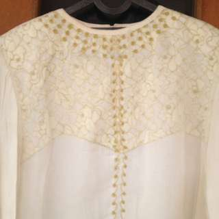 Blus Tunik Broken White