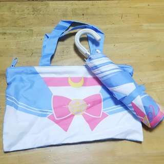 Sailor Moon 美少女夏日雨傘連傘袋 Sailormoon SAILOR MOON x U MAGAZINE SUMMER FOLDING UMBRELLA with BAG 美少女戰士 月野兔
