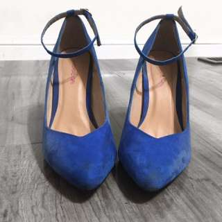 Material girl By Madona blue Stap Heels