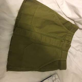 H&m Army Button Up Skirt