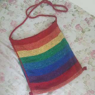 Knitted Rainbow Body Bag