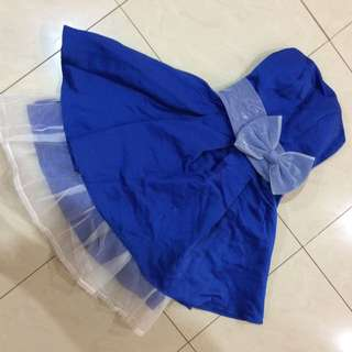 Dress mini - Gaun Pesta Biru