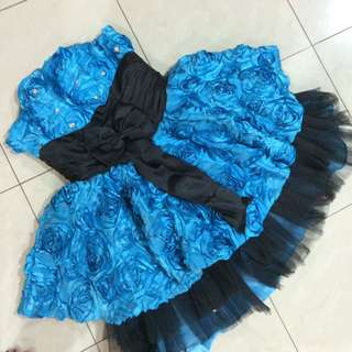 Mini Dress - Gaun Pesta Biru