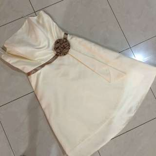Mini Dress - Gaun Pesta Broken White