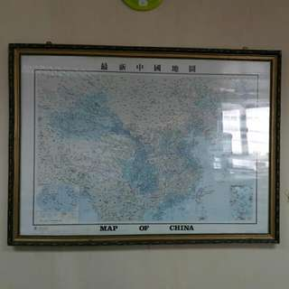 掛全中國大地圖