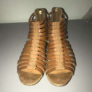 Franco Sarto Strappy Brown Sandals