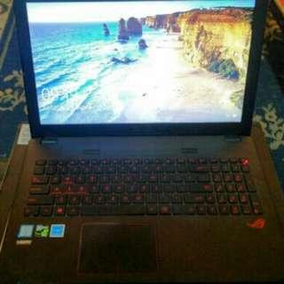 Laptop Asus Rog GL552VW Ram 8GB HDD 1TB Like New Fullset Siap Pakai