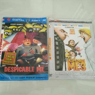 Dvd Dispicable Me I & 3 (Minion)
