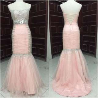 Evening gown gaun malam elegan dress duyung bridal gaun pengantin murah maxidress bodycon dress