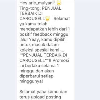 Alhamdulillah.. Tq Carousell