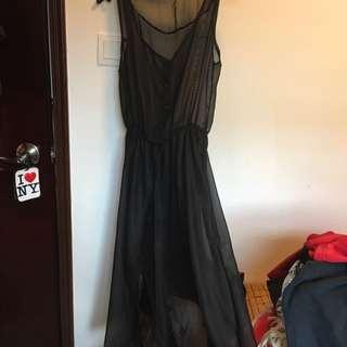 Black See Thru Long Dress
