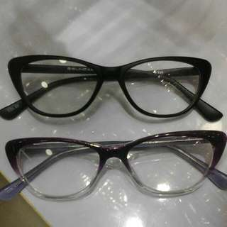 Women's Fashion Frame Available Purpol And Block Cats Eye