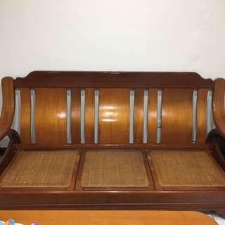 二手實木椅3+2