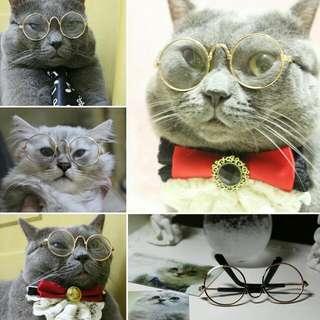 土豪透明眼鏡(金色框)