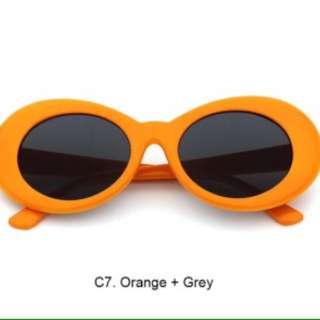 Orange Retro Glasses