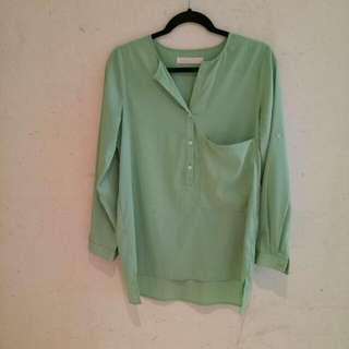 BYSI BLOUSE GREEN