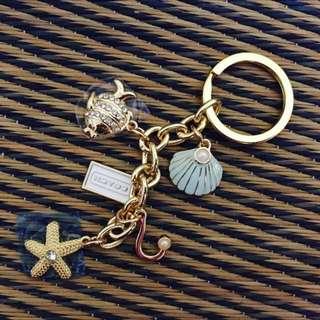 [RS] Coach Gold Sea Theme Keychain