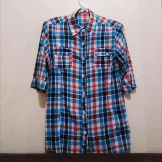 Blue Square Shirt