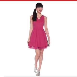 Lovebonito Mylene Mesh Overlay Dress