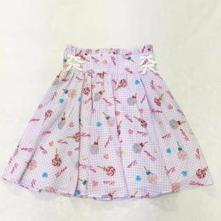 BN Ank Rouge Gingham Candy Skater Skirt (Lilac Purple)